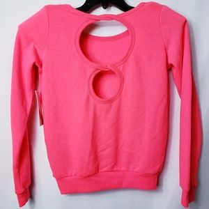 Jessica Simpson Open Back Sweatshirt  S Pink